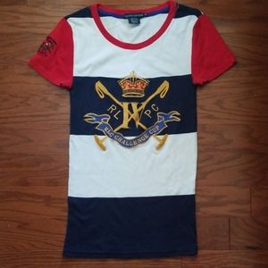 Ralph lauren blue lable challenge  rugbycup top -M